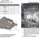 instrukcja montażu osłona silnika Suzuki SX-4 2013
