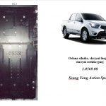 instrukcja osłona silnika Ssang Yong Action Sports 2.0D 2014 1.0569.00